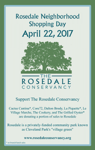 Neighborhood Shopping Day to benefit Rosedale – April 22nd