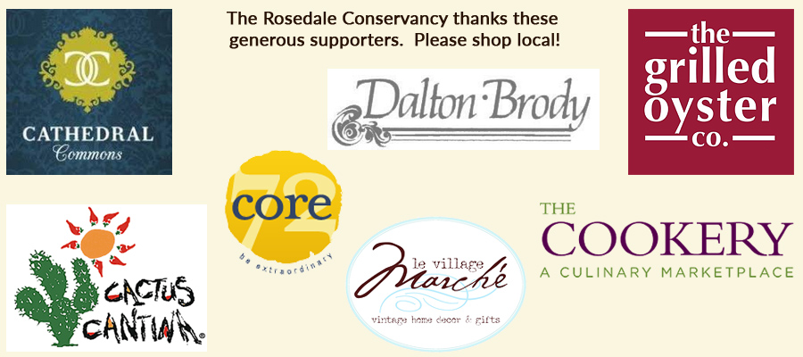 2017 Corporate Supporters of the Rosedale Conservancy