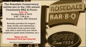 New Date!  Community BBQ @ Rosedale Gate