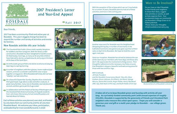 Rosedale Newsletter Fall 2017