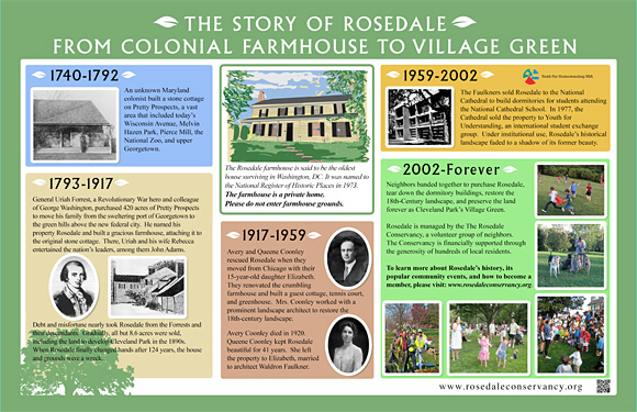 Rosedale informational sign