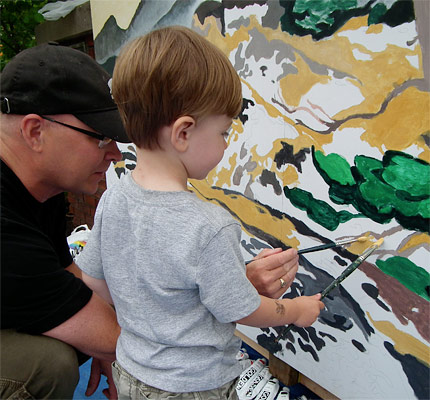 All ages can paint murals