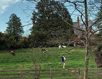 Folks enjoying Rosedale during COVID